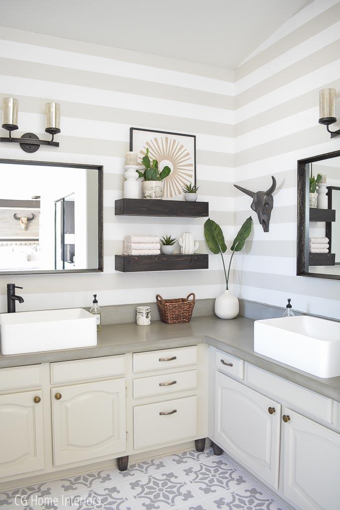 Builder Grade Bathroom Vanity Remodel
