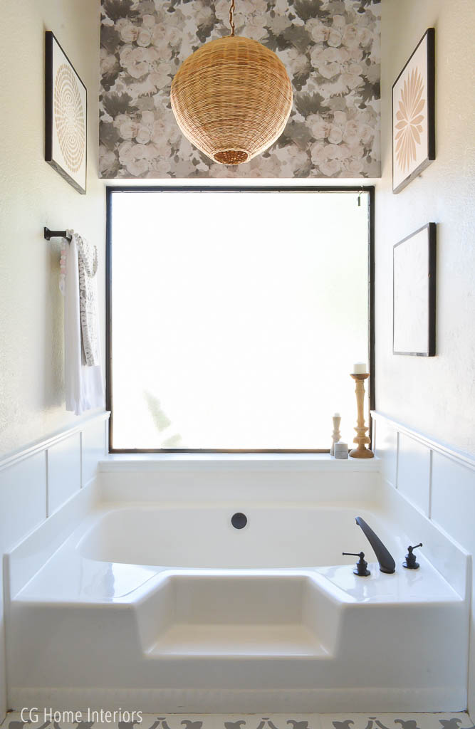Builder Grade Bathroom Remodel on a Budget Decor