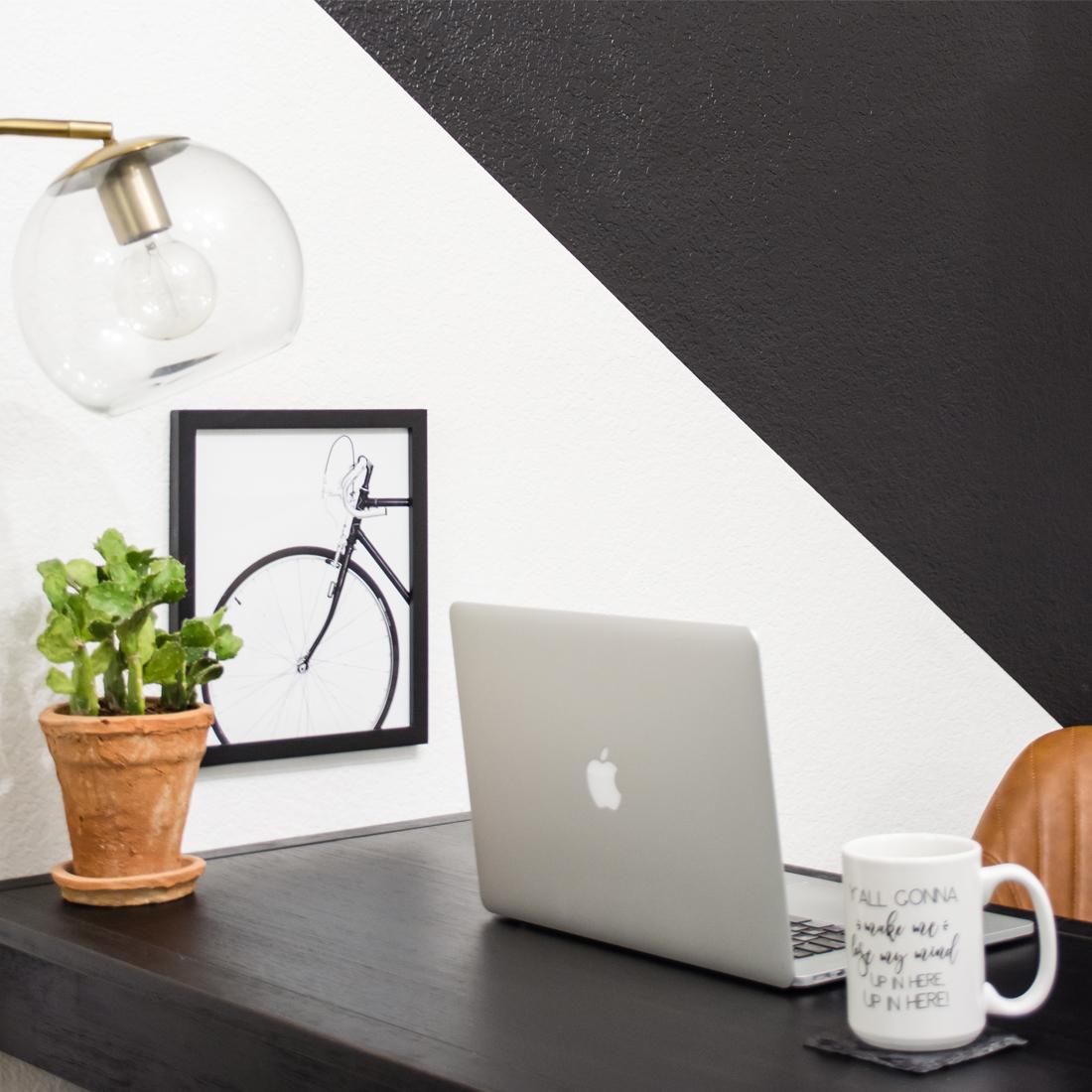 DIY Budget Friendly Modern Home Office Makeover, Hudson Valley Lighting, Mitzi