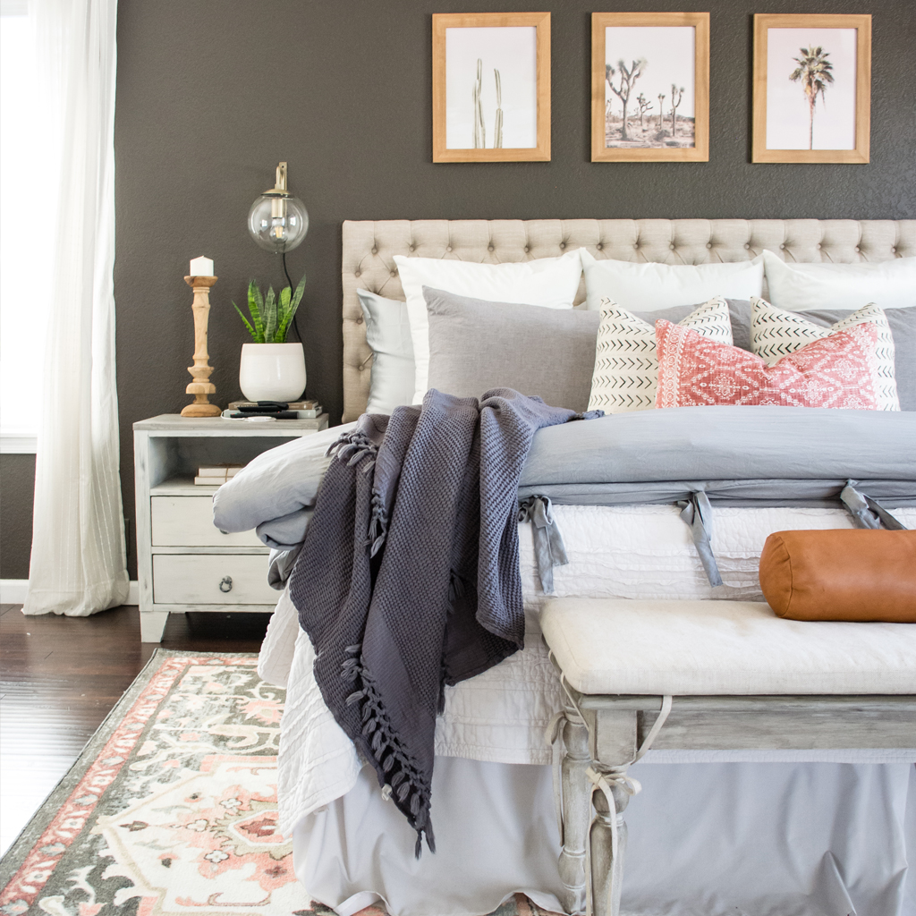 Master Bedroom Refresh Under $500   Mohawk Home Spring Home Tour