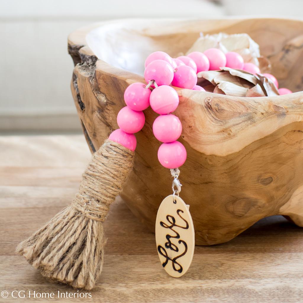Pink Boho Decorative Beads