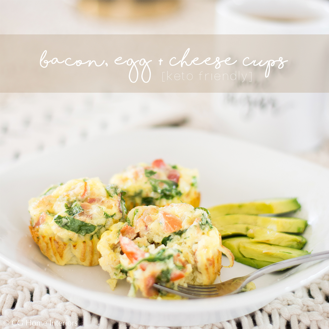 Keto Bacon, Egg + Cheese Cups | Low Carb
