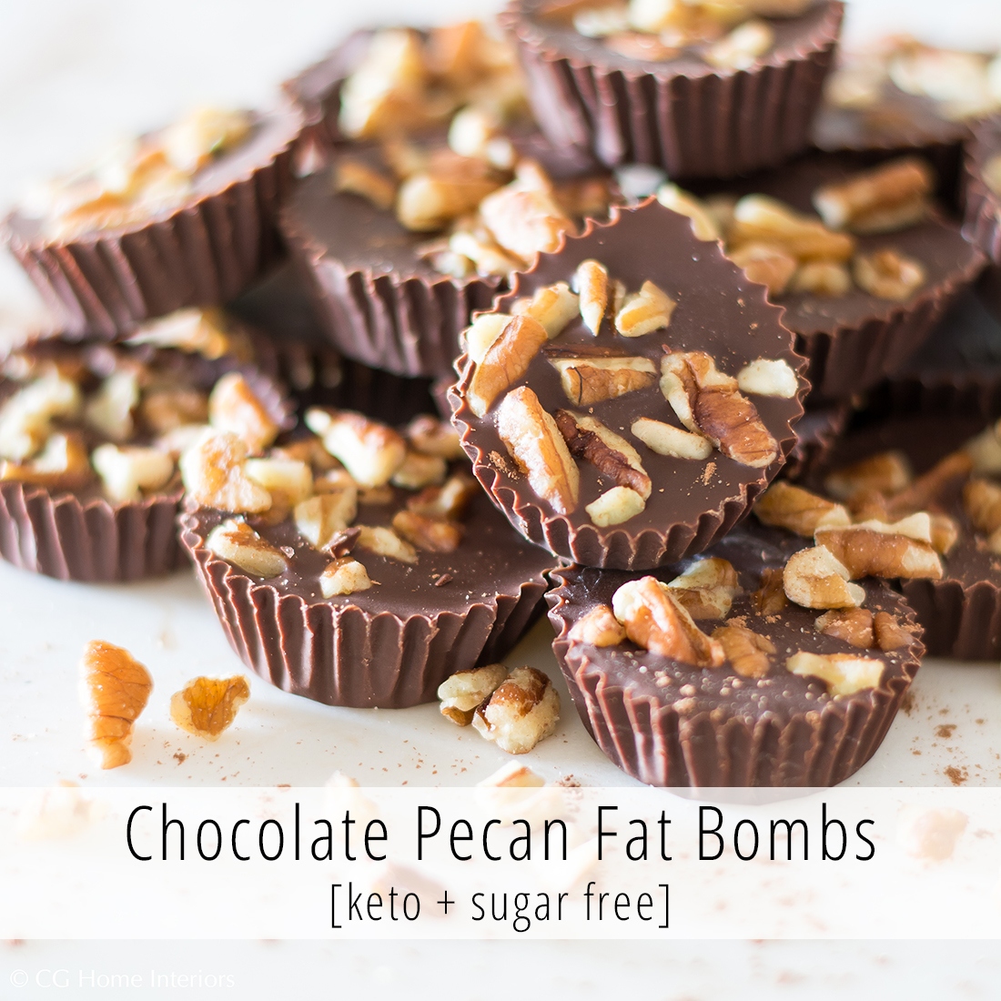 3 Ingredient Chocolate Pecan Keto Fat Bombs | Sugar Free