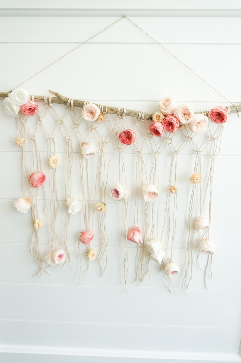 Finding Lovely Floral Macrame Wall Hanging