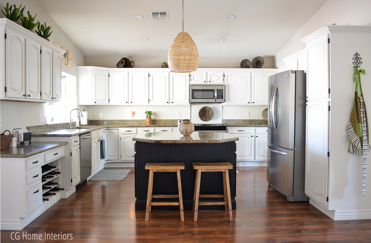 DIY Painted Kitchen Cabinets After Photo