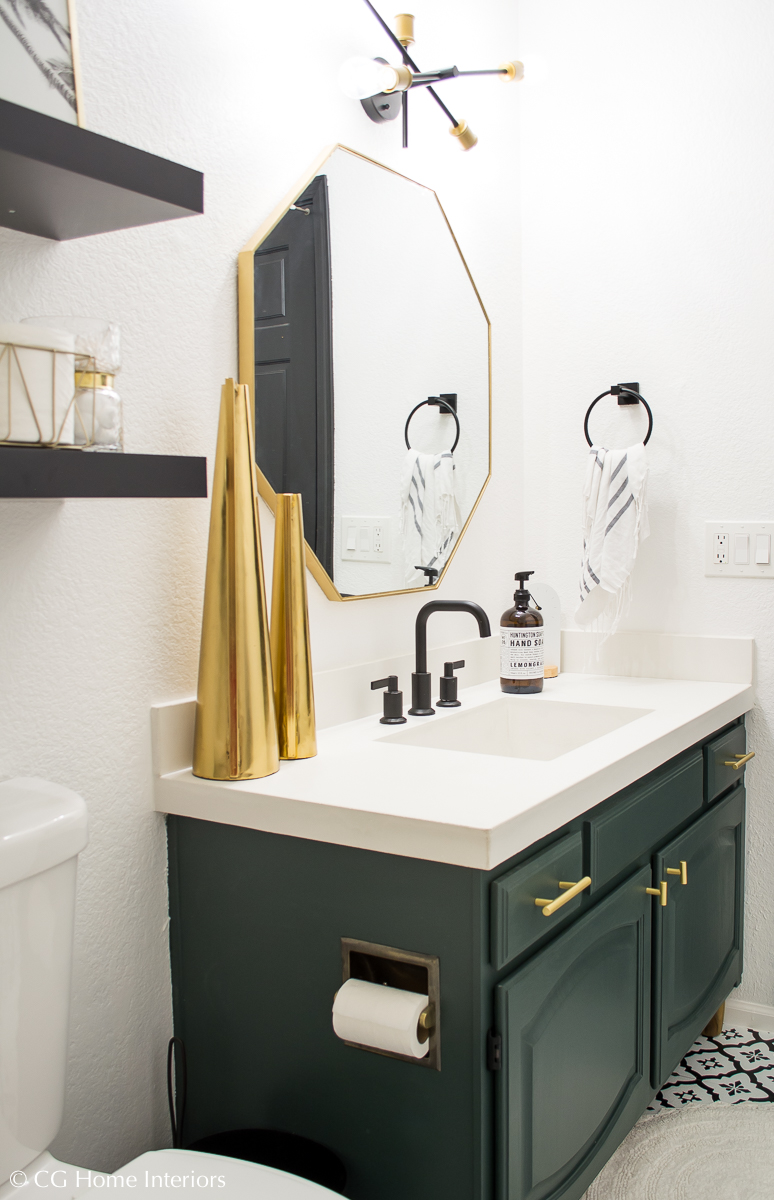 Modern Guest Bathroom Renovation on a Budget – One Room Challenge REVEAL