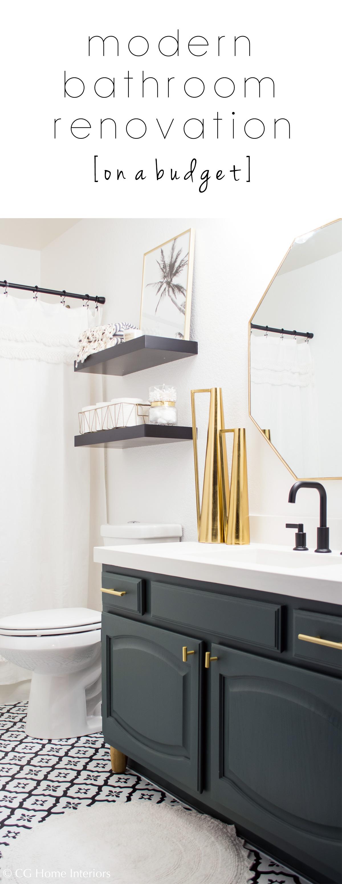 Pinterest Modern Guest Bathroom Renovation on a Budget – One Room Challenge REVEAL